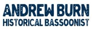 Andrew Burn, Historical Bassoonist and Reed Maker Logo